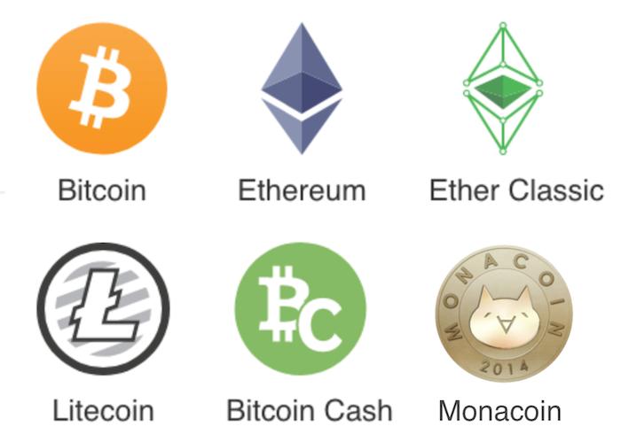 ビットフライヤー取り扱い仮想通貨