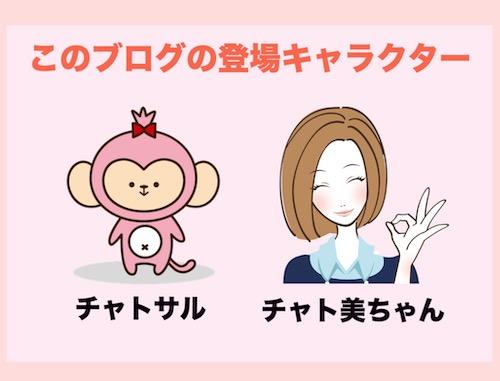 チャットレディブログの登場キャラクター「チャト美とチャトサル」
